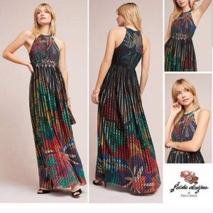 Anthropologie Kalinka Giesha Maxi Dress size 12